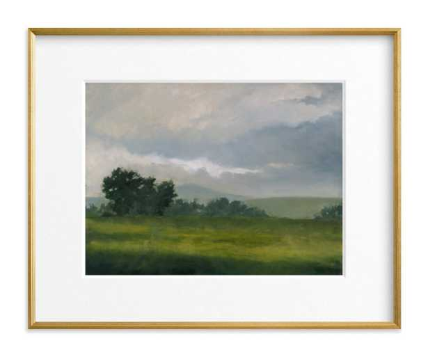 """Broken Clouds // 20"""" x 16"""" // Gilded Wood Frame // Matted - Minted"""