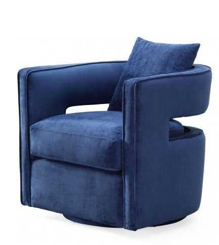 Daniela Navy Swivel Chair - Maren Home