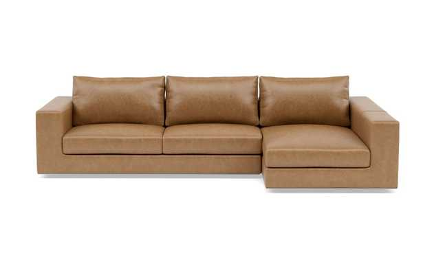 WALTERS LEATHER Leather Sectional Sofa with Right Chaise - Interior Define