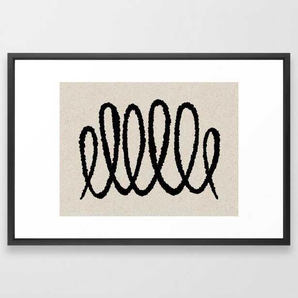 Line art abstract black 2 Framed Art Print - Society6