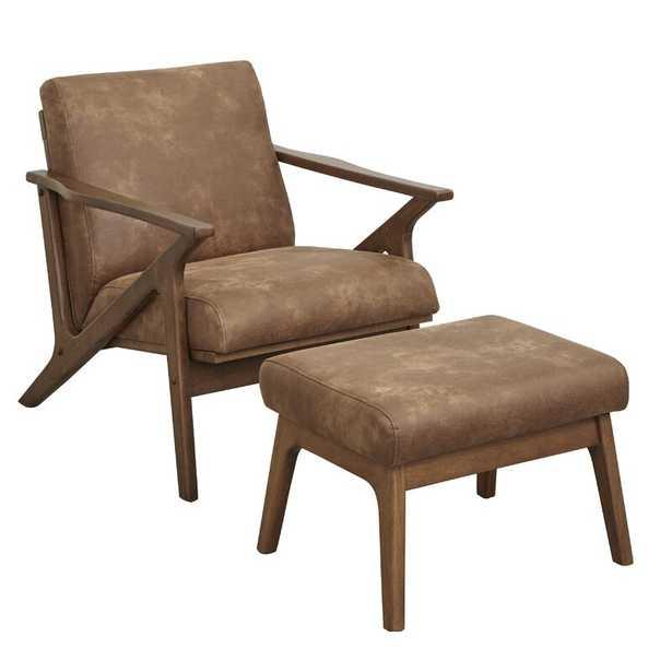 Chon Armchair and Ottoman - Wayfair