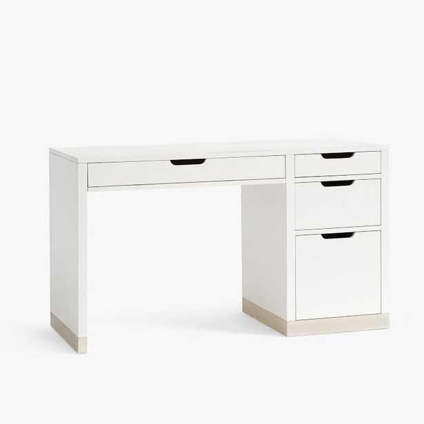 Rhys Desk - Weathered White/Simply White - West Elm