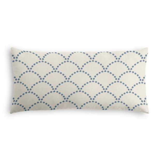 Lumbar Pillow Deco Darling - True Blue with Poly Fiber Insert - Loom Decor