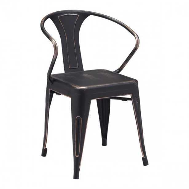 Helix Dining Chair Anti-Black Gold, Set of 2 - Zuri Studios