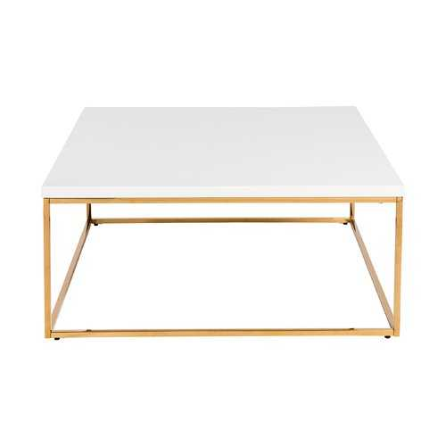 Travis Heights Coffee Table- white/gold - Wayfair