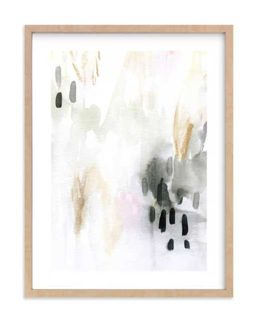 """Ever Softly - NATURAL Wood frame - White Border 18 X 24"""" - Minted"""