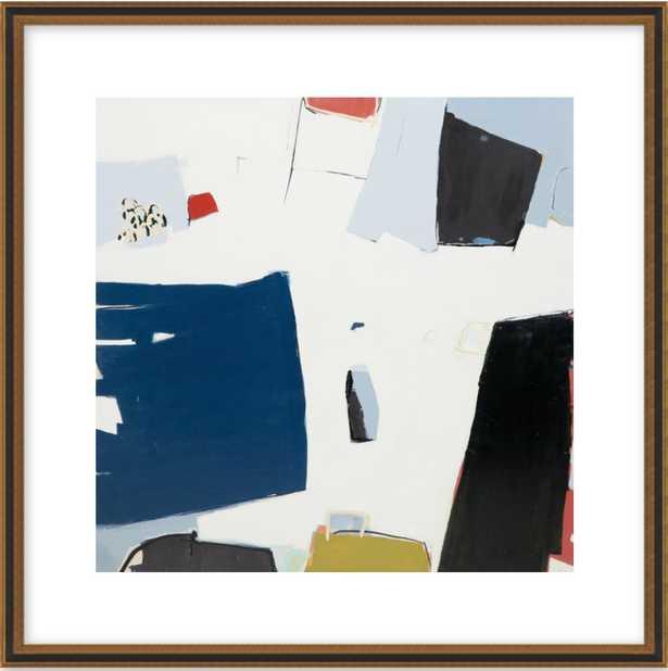 "Portofino 24"" x 24"" Black Gold Reverse Wood - Artfully Walls"