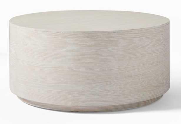 Volume Round Drum Coffee Table - WinterWood - West Elm