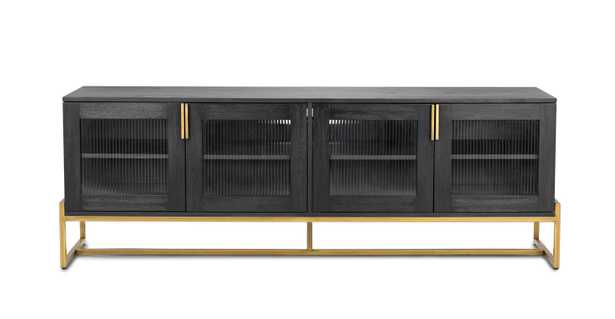 OSCURO CABINET -  BLACK AND BRASS - Article