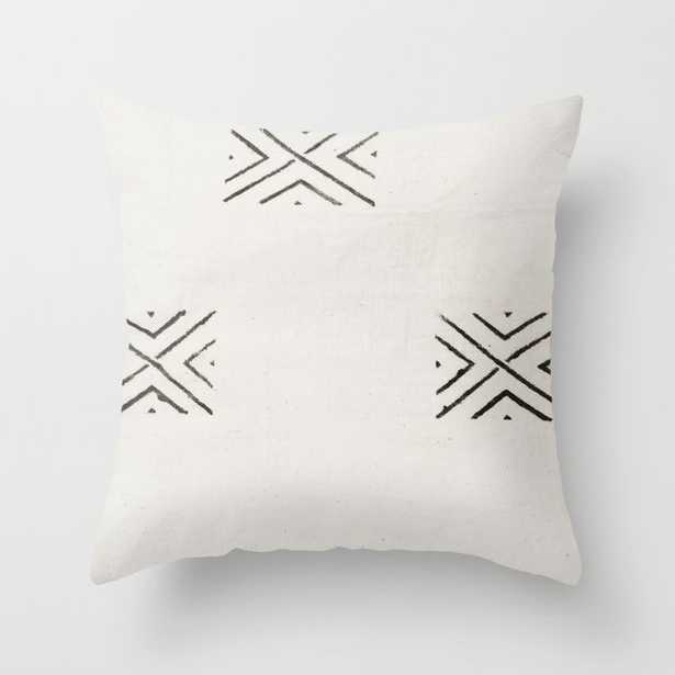 """big X Throw Pillow 18""""x18"""" with insert, Indoor - Society6"""