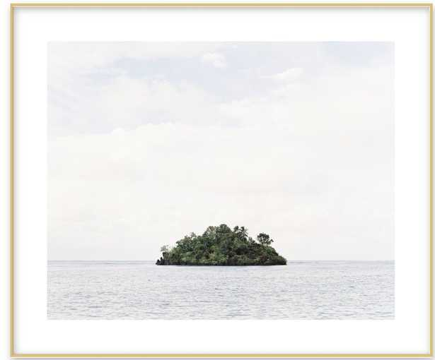 Island by Andrew Jacona , Frosted gold Metal frame with matte - Artfully Walls