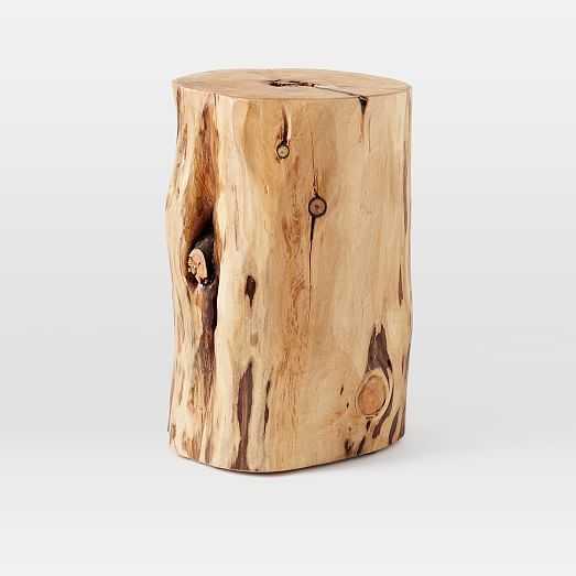 Natural Tree-Stump Side Table - West Elm