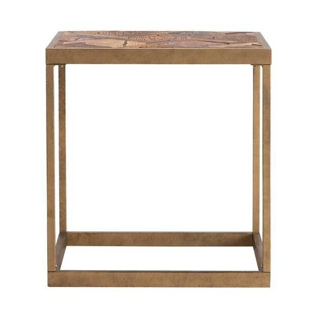 Bosphorus Reclaimed Wood Patchwork End Table - Wayfair