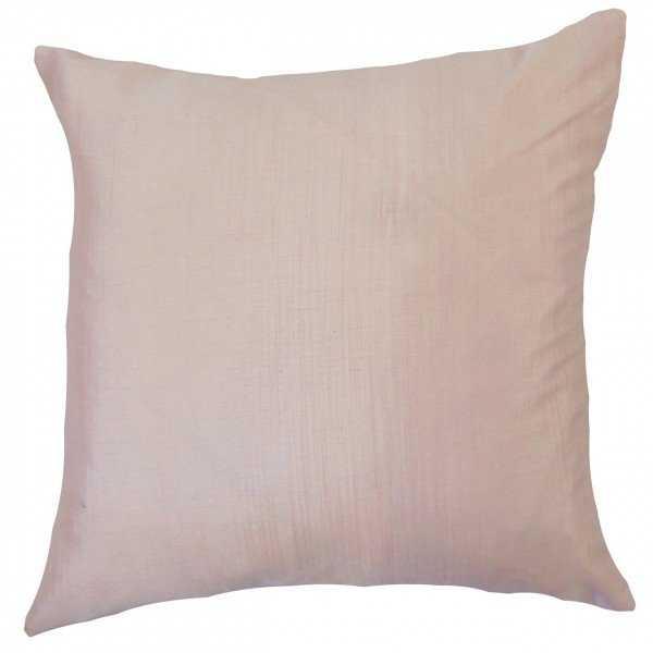 """Barzillai Solid Pillow Pink - 18"""" x 18""""  -Poly Insert - Linen & Seam"""