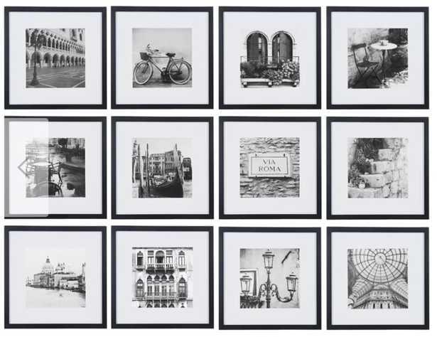 Noland 12 Piece Matted Picture Frame Set Black Frames - AllModern