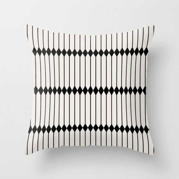 Minimal Geometric Pattern - Black and White Throw Pillow 20x20 - Society6