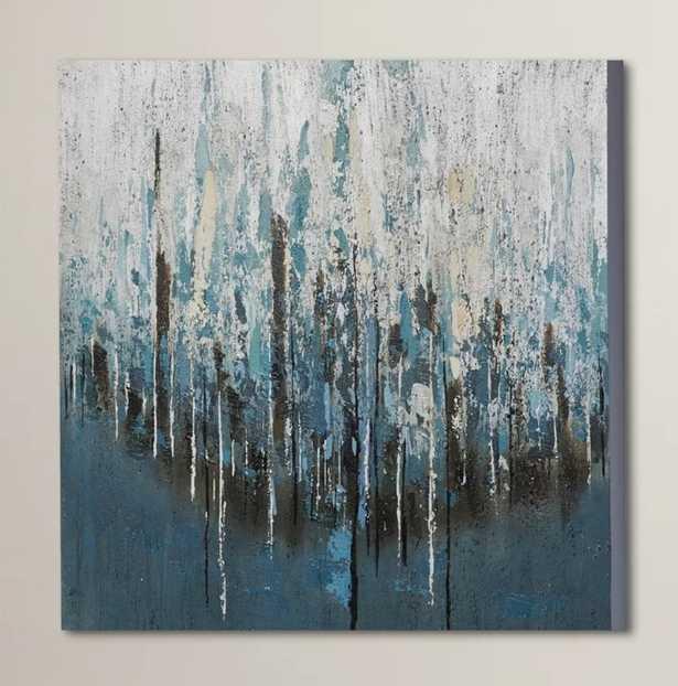'Splash Painting' Print on Wrapped Canvas  ' - AllModern