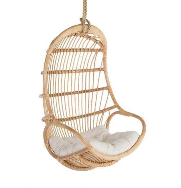 Briaroaks Hanging Rattan Swing Chair - NATURAL - Wayfair