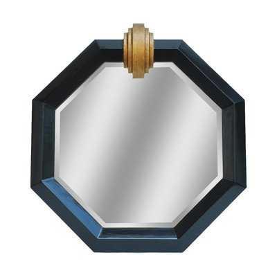 Deco Medallion Shiny Black Mirror - Wayfair