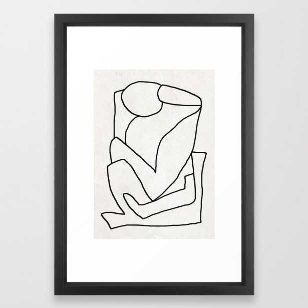 Abstract line art 2 Framed Art Print by ThingDesign - Society6