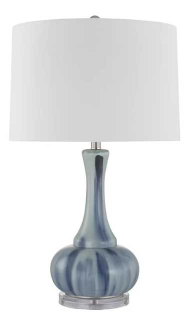 "Donita Glass Bottle 28"" Table Lamp - Wayfair"