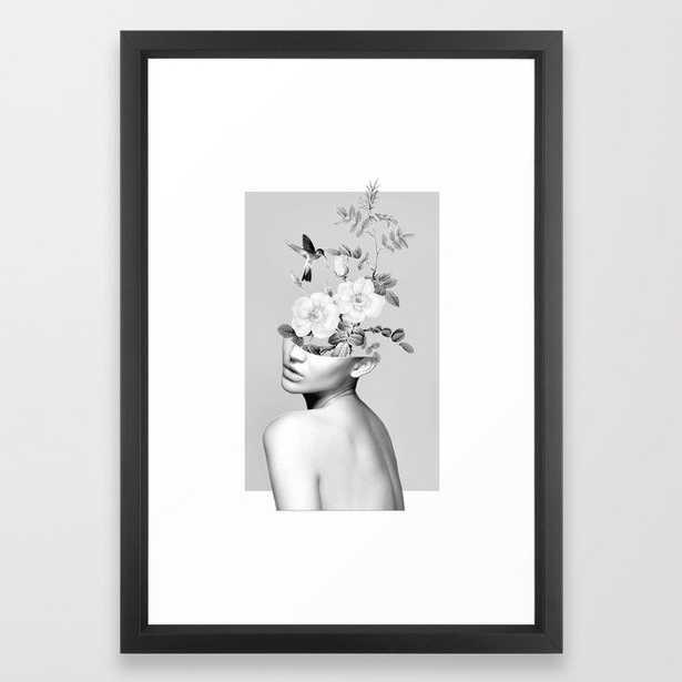 "Floral beauty 2 Framed Art Print - Vector blackl - 15"" X 21"" - Society6"