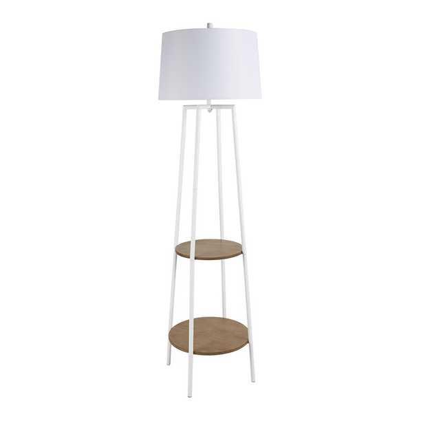 Bart Floor Lamp with Shelves - Wayfair
