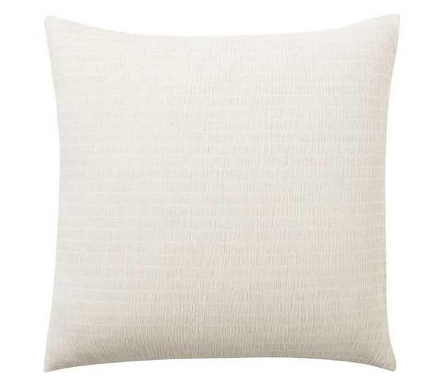 Beck Ruched Cotton Sham, Euro, Flax - Pottery Barn