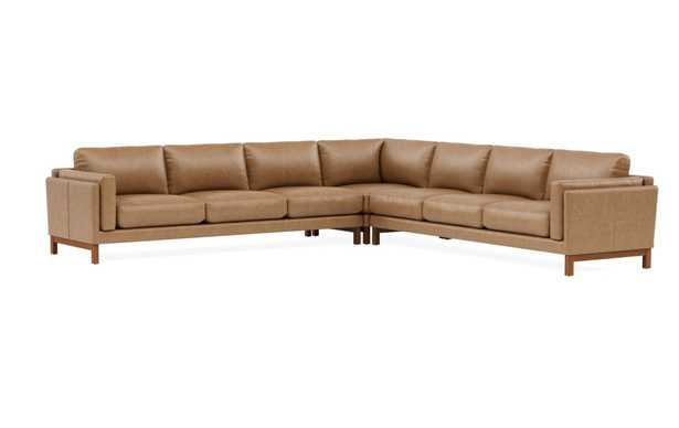 GABY LEATHER Leather 6-Seat Corner Sectional - Interior Define