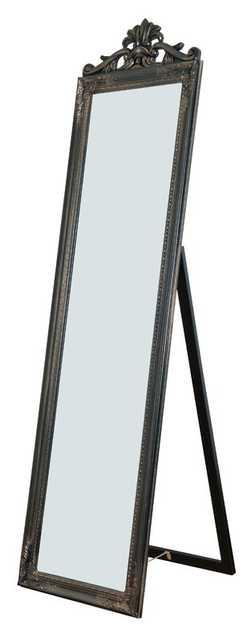 Maryana Antiqued Wood Standing Wall Mirror - Wayfair