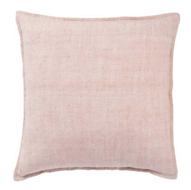 Emalita Linen Pillow, Cameo Rose - Poly Insert - Lulu and Georgia