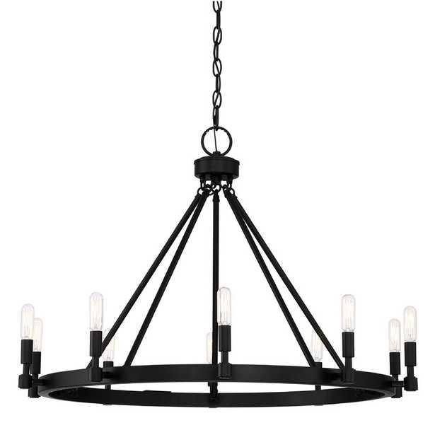 Drubin 10-Light Candle Style Wagon Wheel Chandelier - Wayfair