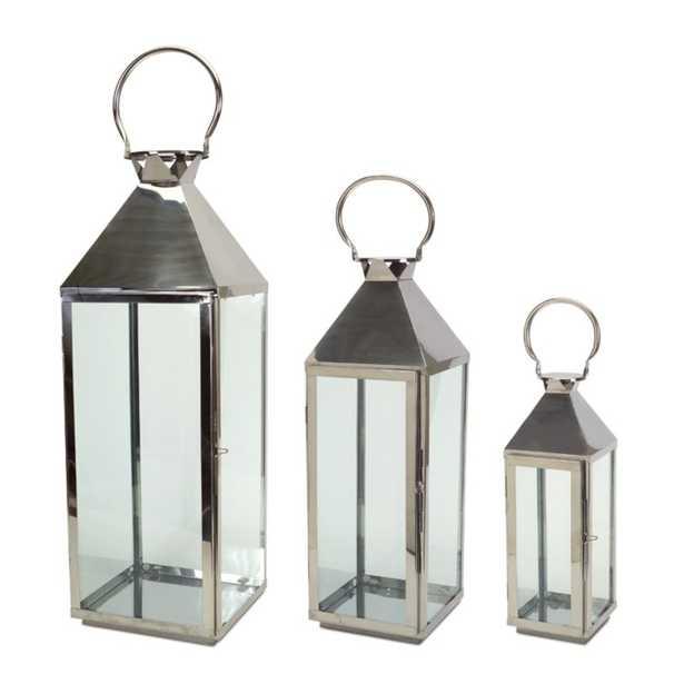 3 Piece Metal Lantern Set - Wayfair