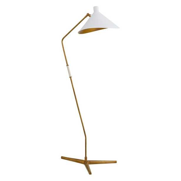 MAYOTTE OFFSET FLOOR LAMP - WHITE - McGee & Co.