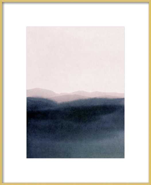 """Dusk Scenery // Frosted Gold Metal Frame with Matte // Final Framed Size: 11x14"""" - Artfully Walls"""