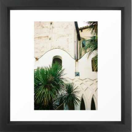 Italian architecture on the Amalfi coast   Travel photography Italy Europe Framed Art Print - Society6