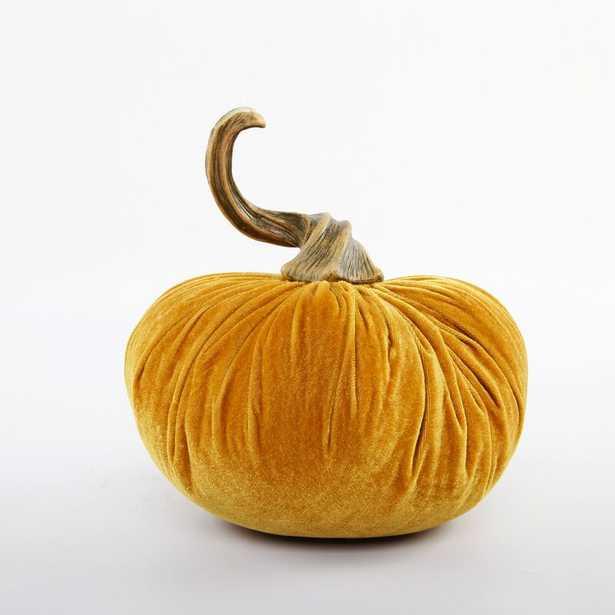 Velvet Pumpkin Decorative Accent - Gold - Birch Lane