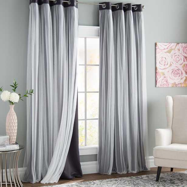 Brockham Solid Blackout Thermal Grommet Curtain Panels (Set of 2) - Wayfair