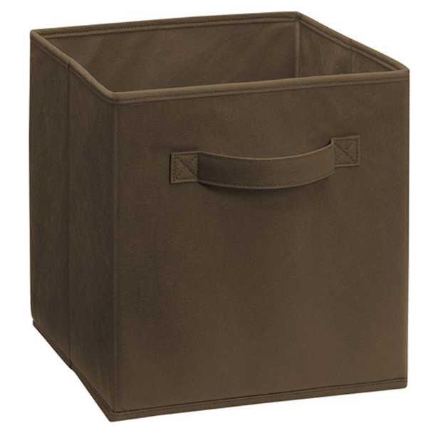 11 in. D x 11 in. H x 11 in. W Canteen Fabric Cube Storage Bin - Home Depot