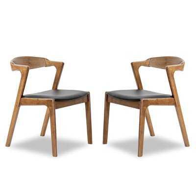 Varga Side Chair in Black/Brown (Set of 2) - Wayfair