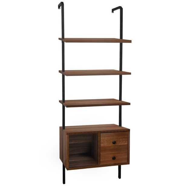 Agisilaos 72.4'' H x 22'' W Iron Ladder Bookcase - Wayfair