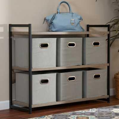 Open Fabric Storage Bin - 6 Pack - Wayfair