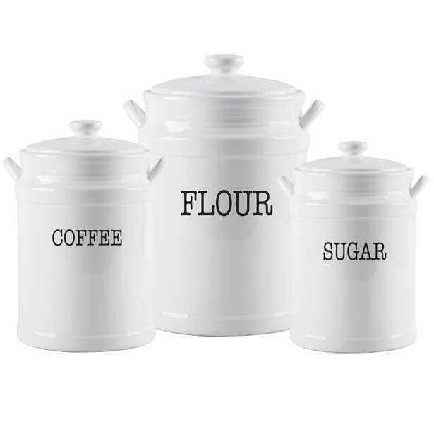 Prep Canisters 3 Piece Coffee, Tea, & Sugar Set (Set of 3) - Wayfair