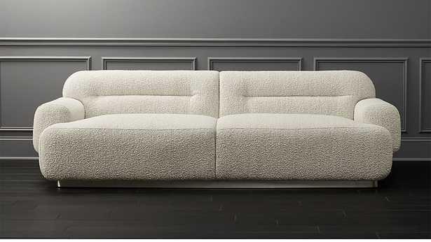 Logan Grey Boucle Sofa - CB2