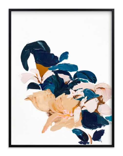 abstract botanical  - 30 x 40 - black wood frame - standard - Minted