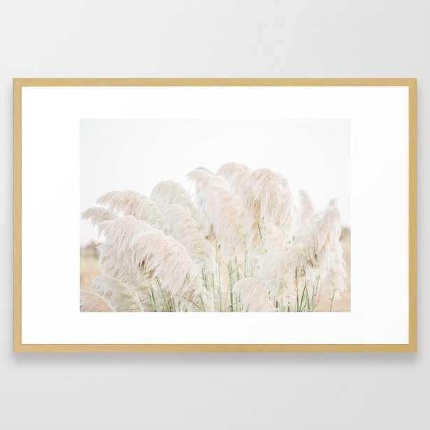 Natural Pampas Grass Framed Art Print - Society6
