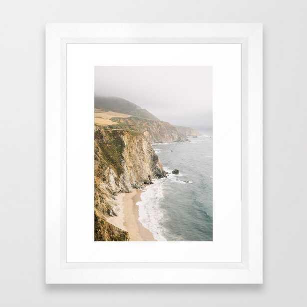 """Big Sur California Framed Art Print - 10""""x12"""" - vector white frame - Society6"""