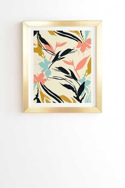 GOLD FRAMED WALL ART BOTANICAL ABSTRACT ART  BY MARTA BARRAGAN CAMARASA - Wander Print Co.