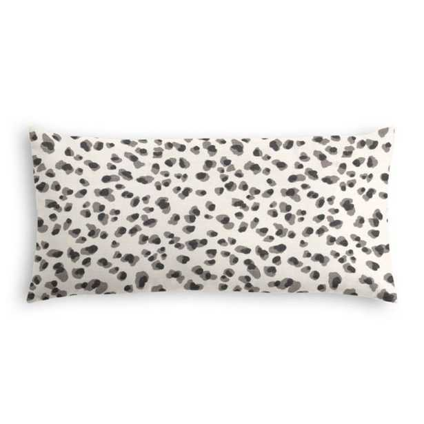 Lumbar pillow - Spot on cinder - 12 x 24 with down insert - Loom Decor