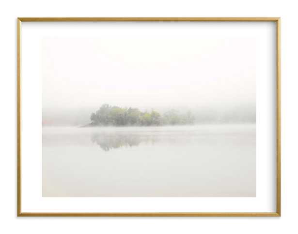 The Island framed art 30x40-White Border/Gilded Wood Frame - Minted